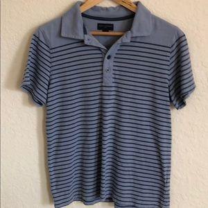 Banana Republic striped men's polo shirt
